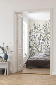 """Komar Vlies Fototapete """"Flowering Herbs"""" - Größe: 200 x 250 cm (Breite x Höhe), 4 Bahnen"""