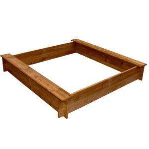 vidaXL Sandkasten Holz Quadratisch