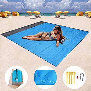 Stranddecke XXL Outdoor Picknickdecke wasserdicht 200*210cm Ultraleicht  Blau