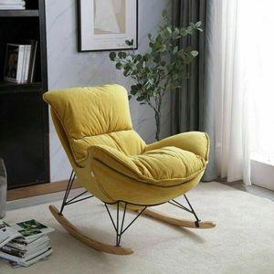 360Home Schaukelstuhl Schwingsessel Relaxstuhl Holz Sessel gemütlich