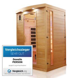 Dewello Infrarotkabine Infrarotsauna PIERSON 135cm x 105cm inkl. Vollspektrumstrahler, Bodenstrahler