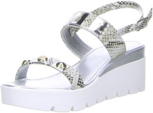Vista Damen Sandaletten Schlangenoptik/Silber, Größe:36, Farbe:Mehrfarbig