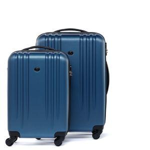 FERGÉ 2er Kofferset Handgepäck + 24' Marseille ABS Dure-Flex royal-blau Trolley-Hartschalenkoffer Set 4 Rollen Kofferset 2-teilig Hartschale 55 cm