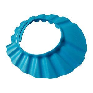 ODM Fabrik Kinder Duschhaube Baby Shampoo Kappe Baby Shampoo Kappe wasserdichte Kappe Badekappe verstellbare EVA Kappe blau