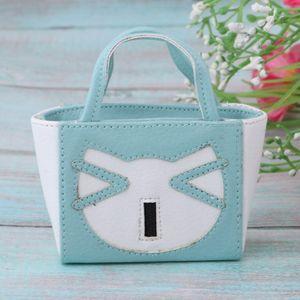 1 Stück 12-Zoll-Puppenhandtasche , Farbe Blau