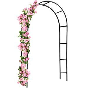 Rosenbogen DEUBA® Rosensäule Gartenbogen Rankgitter Rankhilfe Tür Spalier Tor, Model:M 2 - 240 cm