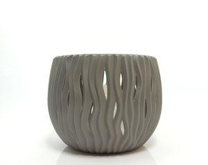 Übertopf SANDY in versch. Farben und Größen, Durchmesser:18 cm, Farbe:Steingrau