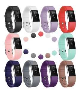 Fitbit Charge 2 Armbänder 10er-Pack Farbmix (S)
