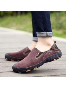 Herren Outdoor Freizeit Schuhe Rutschfeste Flache Schuhe Leichte Neue Loafer,Farbe: Weinrot,Größe:48