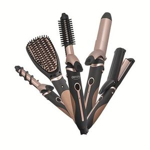 Camry Hairstyling Set   5in1   Richtbürste   ZIG-ZAG Wellenplatten   19 mm und 32 mm  Lockenwickler