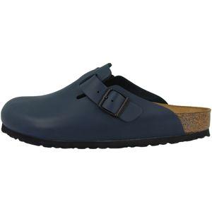 BIRKENSTOCK Boston Clogs Pantoffel Hausschuhe Blau Schuhe, Größe:40