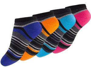 Yenita® Kinder Sneaker Socken 8 Paar, mit Ringel 23-26