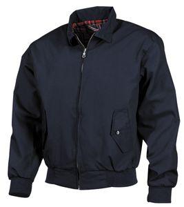 Jacke, English Style, blau, Strickbündchen, Karofutter - L