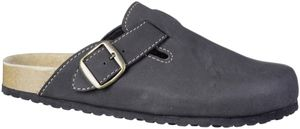SUPERSOFT Herren Kunstleder Bio Clogs black, softes Bio Korkfußbett