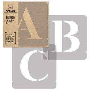 Buchstaben & Zahlen Schablonen / 100mm Times Große / Alphabet Schriftzug Vorlage