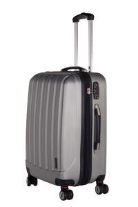 Packenger  Koffer Velvet L in Silber, 47x27,5x70 cm - Fassungsvolumen: 60 l; 101/24-003P-04