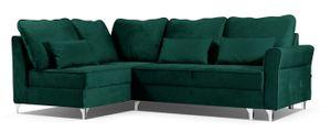 Grün Ecksofa HILTON! Nur Ottomane rechts - Polstersofa mit Bettkasten Couch Sofa