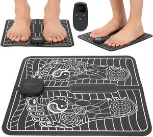 NightyNine EMS Fußmassagegerät, USB LCD EMS Fußmassagegerät Wiederaufladbares Formbeinkissen Fußstimulator Maschine Fuß ABS Stimulator Elektrisches Massagepad