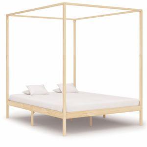🌸Möbel Bettgestelle Bett Himmelbett-Gestell 180×200 cm/Doppelbett Jugendbett für Schlafzimmer Massivholz Kiefer 180 x 200 cm *Direkt vom Herstelle