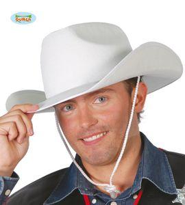 Fiestas Guirca cowboyhut Filz weiß Einheitsgröße