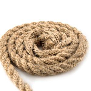 Juteseil Juteschnur gedreht ø 14 mm 20 m - Bastelschnur Kordel Natur Dickes Seil für Maritime Dekoration Jutekordel Tau