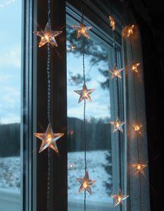 LED-Lichtervorhang mit Sternen