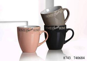 Kaffeebecher 360ml 3fach sortiert Sweet Home