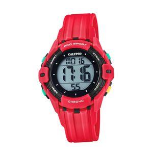 Calypso Kunststoff PUR Kinder Uhr K5740/3 Armbanduhr rot Digital D2UK5740/3