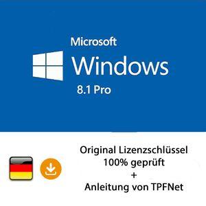 Microsoft® Windows 8.1 Pro 32 bit & 64 bit Vollversion Original Aktivierungsschlüssel per E-Mail + Anleitung von TPFNet®