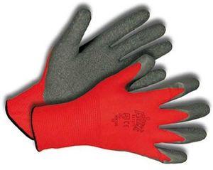 KIXX Handschuhe, Nylon/Latex, rot/grau, Gr. 6