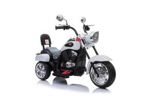 Harley Trike Chopper Kindermotorrad Elektromotorrad Kinderfahrzeug MP3 Weiß (TR1501)