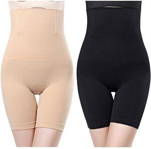 2 Stück Damen Miederpants Miederhosen Shapewear Shaping figurenformend Shapewear mit Bauch-Weg-Effekt Butt Lifter Taillenmieder Nahtlose
