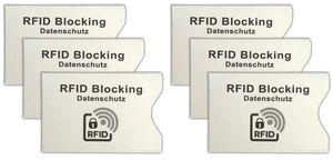 6er Set RFID NFC Schutzhülle | EC Kartenhülle | Datenschutz Karte Hülle Blocker | Kreditkarten Karten Abschirmung | Anti Skimming