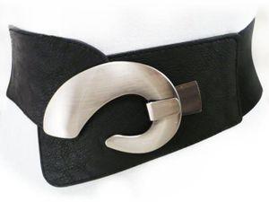 Damen Taille gürtel Stretchgürtel Breiter Hüftgürtel Gürtel 75 - 95 cm