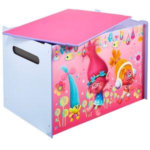 TROLLS Toy Box Truhe Spielzeugkiste Aufbewahrung Kinder Möbel Kiste Spielzeug