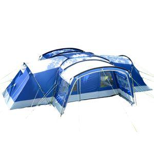 SKANDIKA Familienzelt  Tunnelzelt Nimbus 12 Personen - Sleeper Zelt (blau)