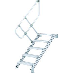 ZARGES LM-Treppe 60° 15 Stufen, 1000 mm breit, Höhe 3,75 m