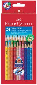 FABER-CASTELL Dreikant Buntstifte Colour GRIP 24er Etui