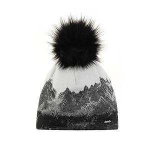 Eisbär Draw Lux Crystal Mütze für Damen mit Bommel, Farbe:Weiss