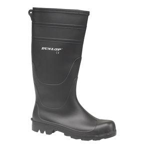 Dunlop Herren PVC-Gummistiefel / Stiefel FS102 (42 EUR) (Schwarz)