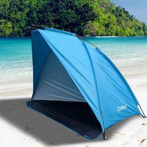 Campingzelt für 3-4 Personen blau, 220 x 120 x 120 cm (LxBxH)   Campingzelt Pop Up Zelt Multifunktionszelt Sonnenschutz