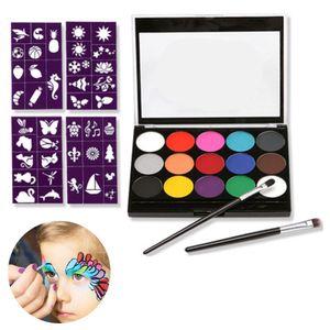 Kinderschminke,  Body Kinderschminke Set, 15 Farben Schminkpalette Kinder Gesichtsfarbe Körperfarben Set für Kinder Partys & Fasching Face Painting