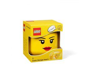 LEGO aufbewahrungsbox Kopf Mädchen groß 24 x 27 cm Polypropylen gelb
