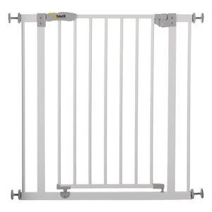 Hauck Open N Stop Türschutzgitter/Treppengitter,75-80cm ohne Bohren, erweiterbar,weiß