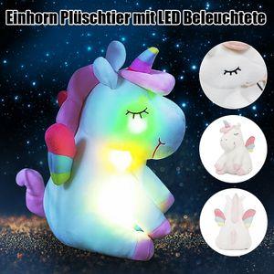 LED Einhorn Stofftier Beleuchtete Plüsch Plüschtier Kuscheltier Kissen Baby