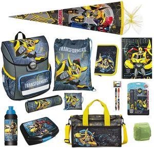 Transformers Schulranzen-Set 17tlg. Cosmos Ranzen 1. Klasse mit Sporttasche Schultüte 85cm Schulanfang