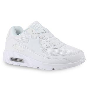 Mytrendshoe Damen Sportschuhe Camouflage Runners Laufschuhe Sneakers 814732, Farbe: Weiß, Größe: 38