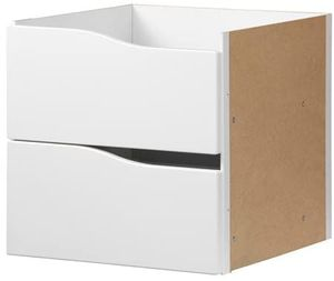 IKEA KALLAX Einsatz mit 2 Schubladen ohne Griff weiß