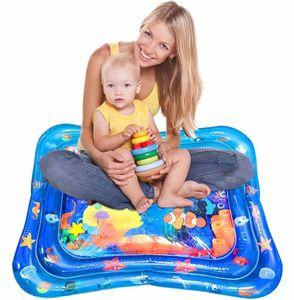 Wassermatte Baby,Baby Spielzeuge 3 6 9 Monate Aufblasbare Wasserspielmatte Baby mit beweglichen Schwimmelementen von Spielzeug Das Wachstum von Kindern Stimulieren Aufblasbare Babyspielzeug(66*50CM)  (Zufälliger Stil)