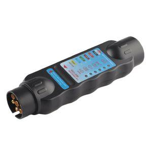 12V Anhänger Prüfgerät 7-Polig Beleuchtungstester für Anhänger Zugfahrzeuge Adapter Stecker Kurzadapter Steckdose
